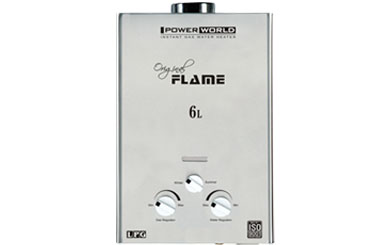 Flame Stainles Steel 6 Lit Gas Geysers